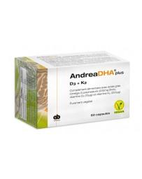 AndreaDHA plus Omega-3 Vitamin D3+K2 caps vegan 60 pce