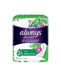 Always Discreet incontinence Small plus 16 pce