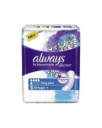 Always Discreet incontinence Long plus 8pce