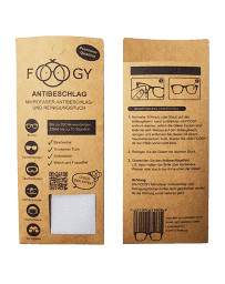 FOOGY chiffon de nettoyage et anti-buée en microfibres