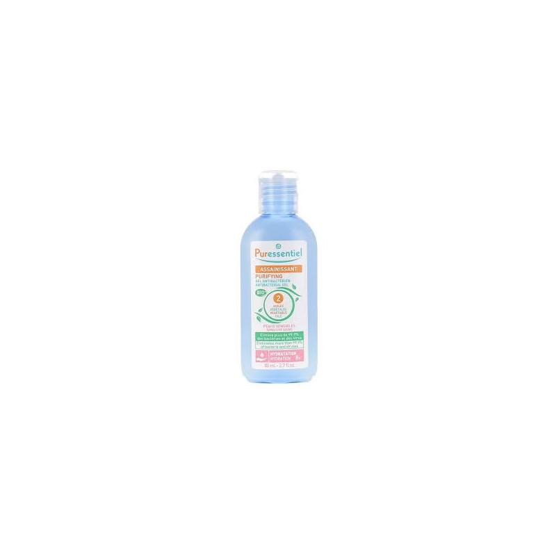 Puressentiel gel assainissant antibactérien amande peau sensible fl 80 ml