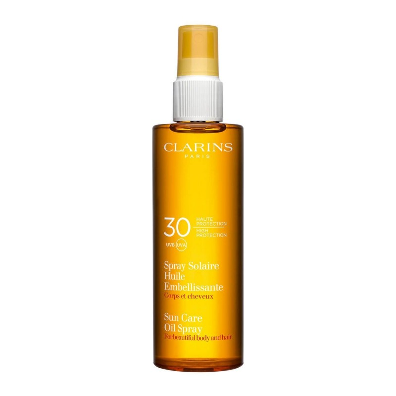 CLARINS Spray Huile Embellissante Corps & Cheveux UVB30 150 ml