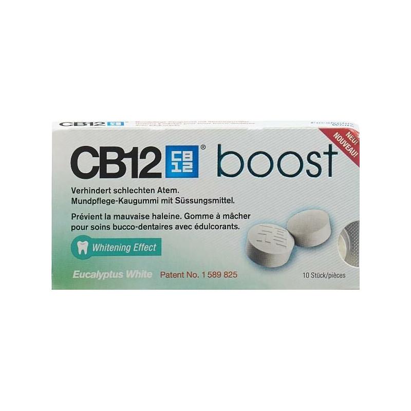 CB12 boost white gommes à macher eucalyptus 10 pce
