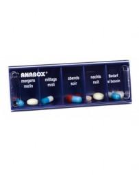 ANABOX distributeur médicaments 1jour bleu