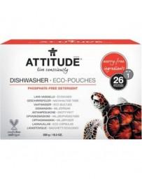 ATTITUDE tablettes pour lave-vaisselle avec ingrédients rassurants, hypoallergénique - 26 pièces