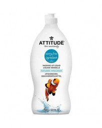 ATTITUDE liquide vaisselle avec ingrédients rassurants, hypoallergénique - fleur des champs - 700 ml