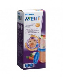 AVENT PHILIPS Via pots de conservation 240ml 5 pots, 5 couvercle