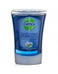 DETTOL No-Touch savon mains recharge fleur de lotus bleu 250 ml