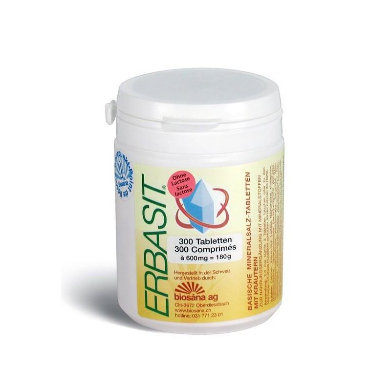 ERBASIT sels minéraux cpr sans lactose bte 300 pce