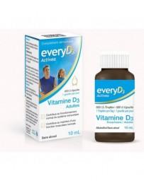 EVERYD3 Activea Vitamine D3 600 UI Adultes sans alcool fl 10 ml
