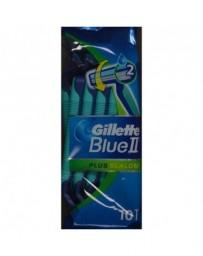 GILLETTE Blue II Plus rasoir jet slalom 10 pce