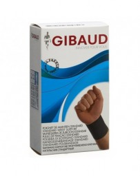 GIBAUD poignet maintien ajustable L 17-19cm noir