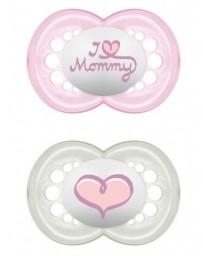 MAM Original lolette silicone 6-16 mois Girl 2 pces *