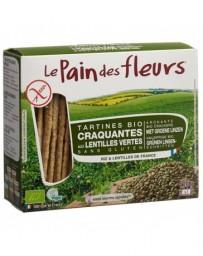 LE PAIN DES FLEURS aux lentilles vertes bio sans gluten 150 g
