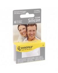 OHROPAX silicon clear sourdines 6 pce