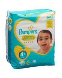 PAMPERS Premium Protection Gr4+ 10-15kg Maxi Plus emballage avec anse 21 pce