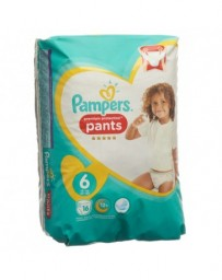 PAMPERS Premium Protection Pants Gr6 15+kg Extra Large emballage avec anse 16 pce