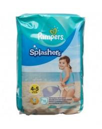 PAMPERS Splashers Gr4-5 emballage avec anse 11 pce