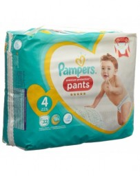 PAMPERS Premium Protection Pants Gr4 9-15kg Maxi pack économique 32 pce