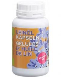 PHYTOMED huile de lin bio 500mg+vitamine K2 caps 180 pce