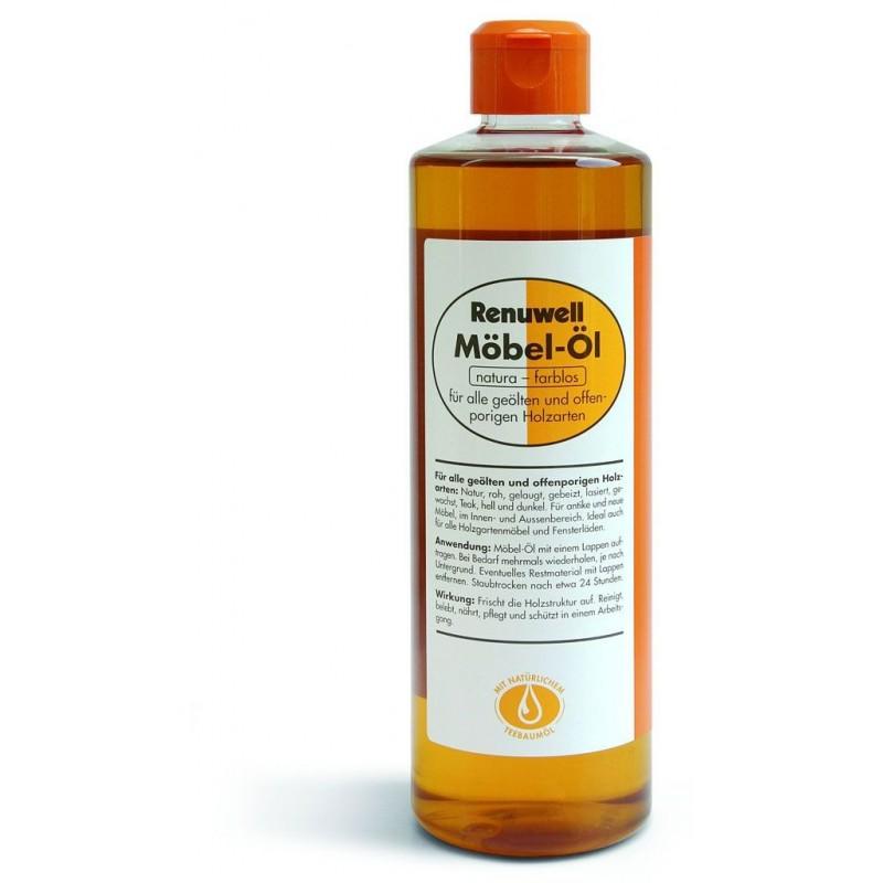 RENUWELL huile incolore pour meubles fl 500 ml