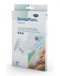 DERMAPLAST Medical Pansement Transparent Stérile 15 x 9 cm 5 Pièces