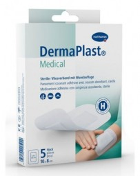 DERMAPLAST Medical Pansement Couvrant Stérile 10 x 8 cm 5 Pièces