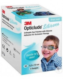 3M Opticlude Silicone pansement orthoptique 5.3x7cm midi boys 50 pce